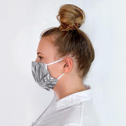 Graue Mundschutzmaske. Mundschutzmaske kaufen