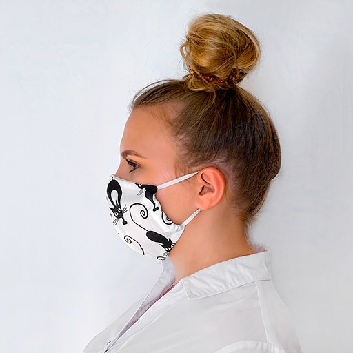 Mundschutzmaske Mit Katzenmuster . Masken Kaufen.