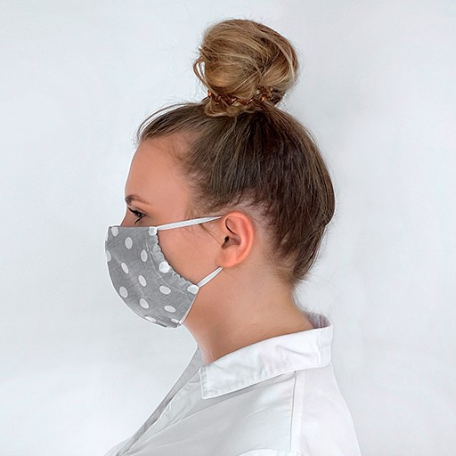 Mundschutzmaske Mit Punktemuster 1