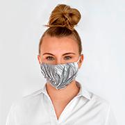 Graue Mundschutzmaske