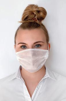 Bild: Einweg Mundschutzmaske In Weiss. Masken kaufen